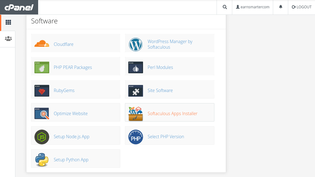 step 2 to install WordPress on your cPanel
